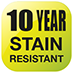 10 Year Stain Resistant