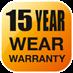 15 Year Wear Warranty