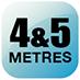 4 & 5 meters